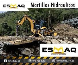 Martillo Hidraulico Demoledor de Alquiler, Bobcat con Martillo, Gallineta con Martillo, Retroexcavadora en Renta
