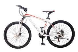 Bicicleta Crolan Mtb Rin 24 Pulgadas 21 Velocidades Freno de Disco