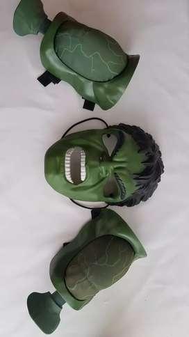 Hulk mascara y brazos