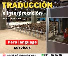 Traducción simultánea / Cabinas portátiles y equipos para eventos / interpretación y traducción Lima y Perú