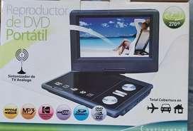 Dvd portatl con television