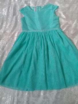 Vestido Verde Agua Niña (estilo Tul)