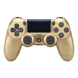 MANDO PS4 DUALSHOCK PLATEADO Y DORADO ORIGINAL PLAYSTATION 4 SONY EDICION LIMITADA