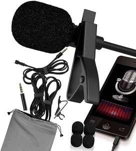 Microfono lavalier profesional para grabacion dslr y entrevista