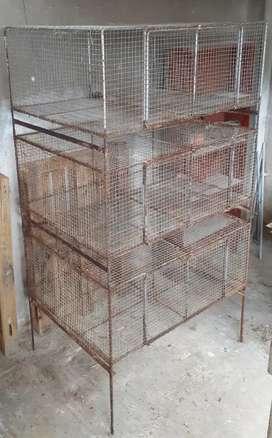 Jaulas para conejos, cuyos, etc