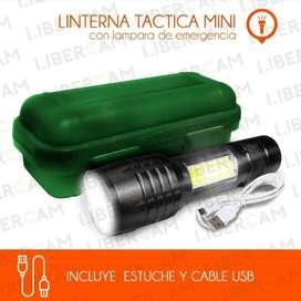 Linterna LED mini recargable por USB