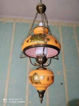 Vendo juego de 3 lámparas de bronce