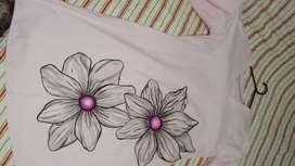 Vestido de algodón pintado a mano