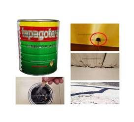 Cemento plástico impermeabilizante tapagoteras interior exterior fácil aplicación