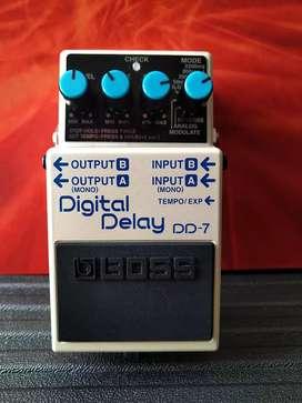Pedal Digital Delay para guitarra marca Boss | DD-7