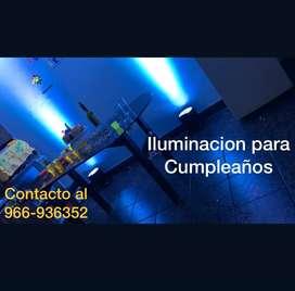 Iluminacion para Cumpleaños u Evento