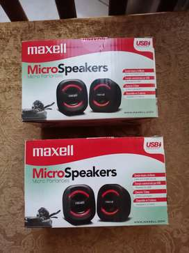 Parlantes maxell micro speakers usb