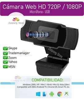 Web Cam HD 720P/ 1080P. (Micrófono-USB)