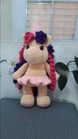 Venta de unicornio en crochet