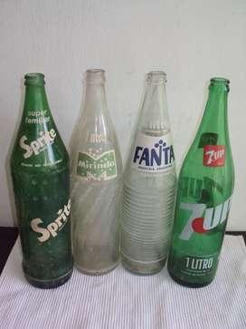 antiguas botellas de gaseosas 1 litro vidrio lote