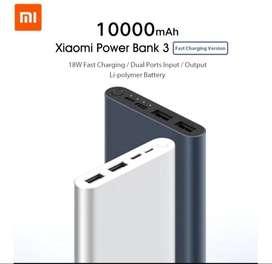 Xiaomi power bank 3, 10000mah
