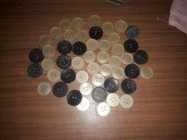 Lote de 49 botones