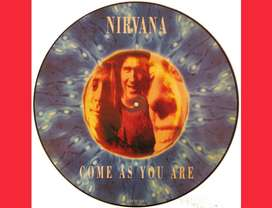 COME AS YOU ARE by NIRVANA Picture Disc 12 pulgadas acetatos vinilos discos singles para tornamesas Djs - only vinyl