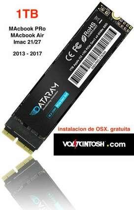 Disco Apple 1TB SSD PCIE TURBO. Instalacion gratis  OSX + programas s./650