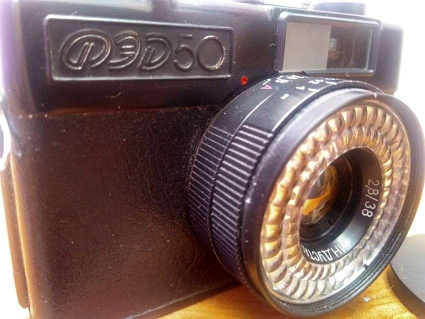 Camara fotos antigua FED rusa 35mm antigua coleccion dañada 0