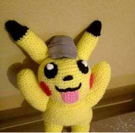 Pikachu  muñeco tejido