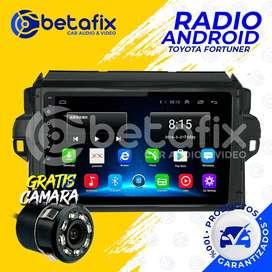 RADIO ANDROID TOYOTA FORTUNER 2016UP GPS BT USB WIFI BETAFIX DESDE