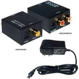 Convertidor De Audio Digital Óptico O Coaxial A RCA Analogo