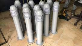 Bolardos metalicos led ornamentales