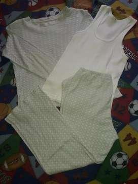 Pijama ropa de dormir T10 algodón y bvd usado niño 5 años