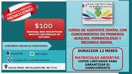 Cursos de Asistente dental y Farmacología
