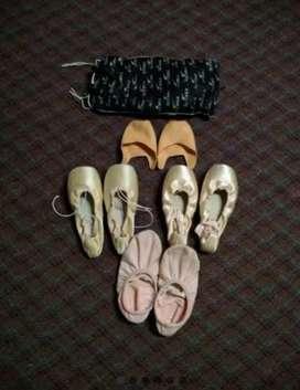 Zapatillas Ballet Punta Dura Nro 33 Kit