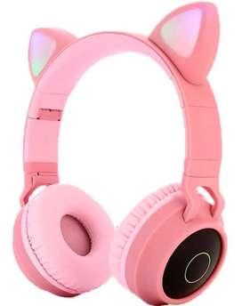 Audifonos Bluetooth Diadema Microfono Orejas De Gato Y Luces_ref:01