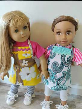 Ropa American Girl muñeca delantales