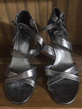 Sandalias de fiesta peltre/plata oscuro