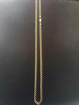 Cadena cubana en oro italiano de 18k