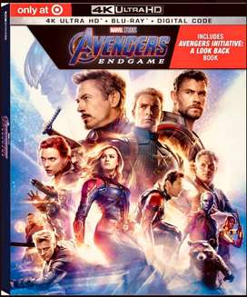 Blu Ray Avengers: End Game 3 Discos - 4k