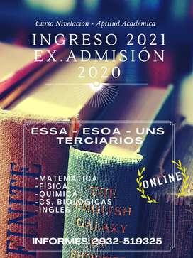 INGRESO ESA - ESOA - TERCIARIOS 2020/21