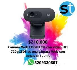 CAMARA WEB LOGITECH CON VIDEO HD 720PC505 ES UNA CAMARA WEB CON VIDEO HD 720 P