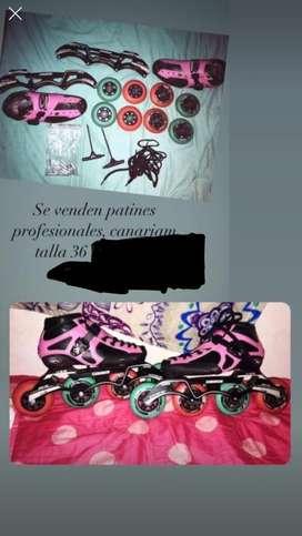 Vendo patines canariam profesionales talla 36