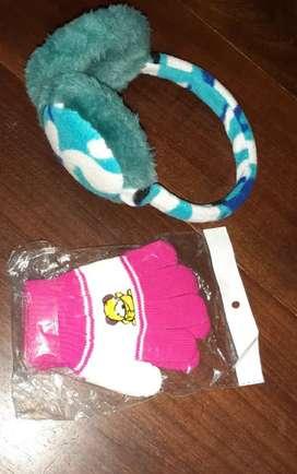 Orejeras + guantes niños