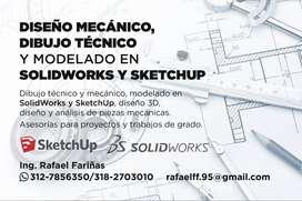 SolidWorks y SketchUp - Diseño Mecánico, Dibujo Técnico y Modelado 3D