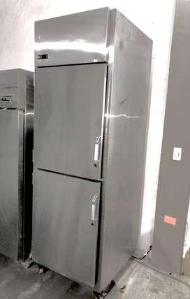 Congelador acero inoxidable no frost vertical