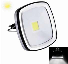 Luz solar multifuncional, recargable, USB, luz blanca