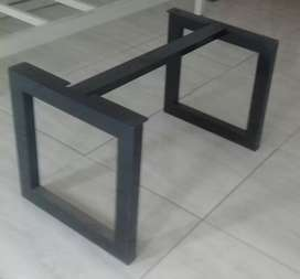 base de caño reforzado para mesa ratona