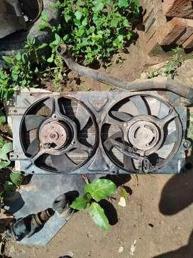 Radiador con electro ventiladores Caddy 2000