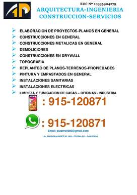 CONSTRUCCIONES DE CASAS-DEPARTAMENTOS-OFICINAS-CASAS DE PLAYA-INDUSTRIA