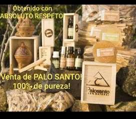Venta de aceite y tablitas de PALO SANTO