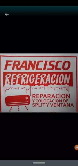 Refrigeraciónes Francisco instalación y reparaciones de aires acondicionados