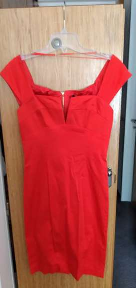 Las Oreiro vestido de fiesta rojo nuevo