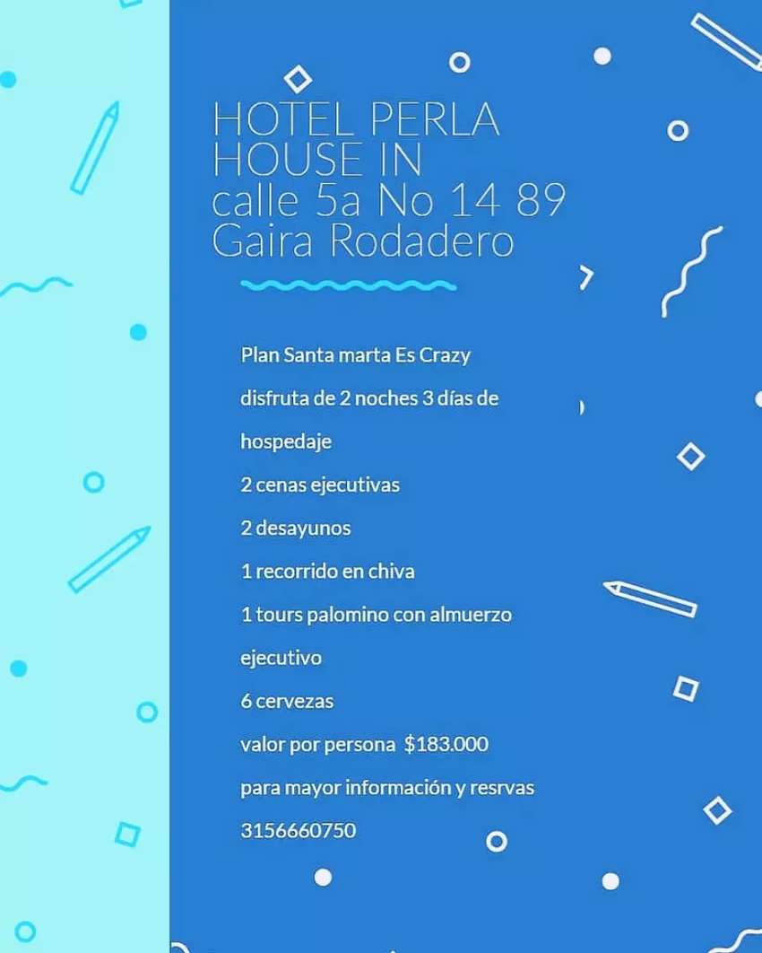 Visita Santa Marta sector Gaira Rodadero Hotel perla house 0